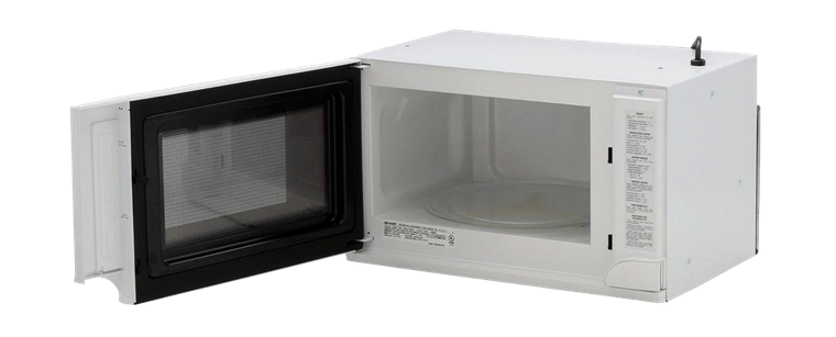 Sharp Over The Counter Carousel Microwave Oven 1 5 Cu Ft 1100w White R 1211