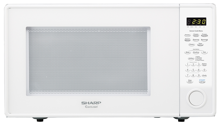 1 8 Cu Ft Sharp White Countertop Microwave R 559yw