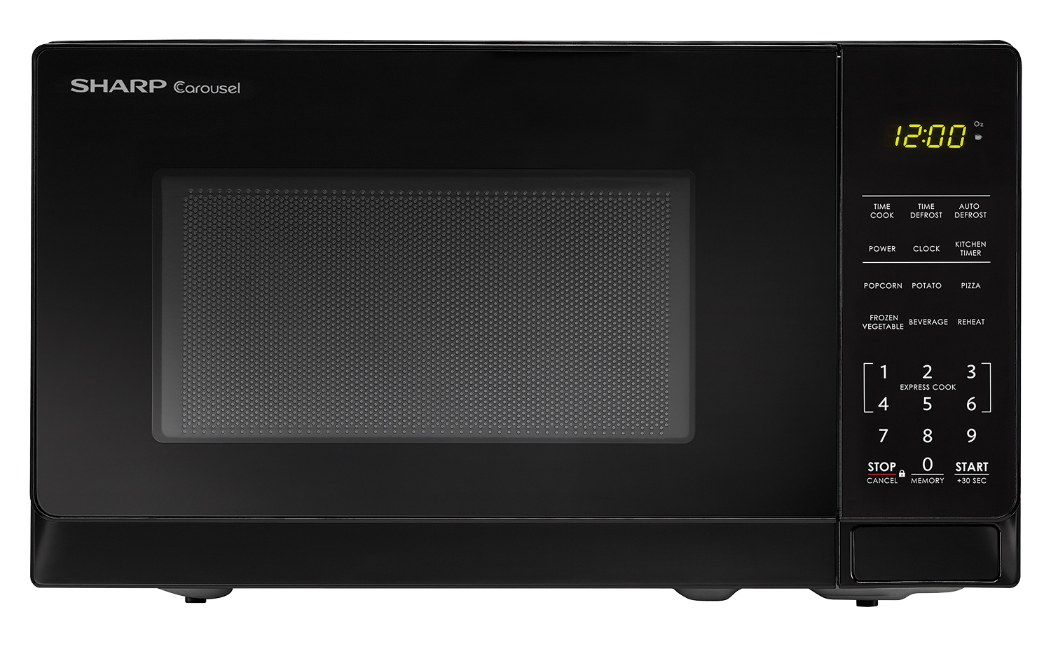 Sharp Black Carousel Microwave Smc0710bb