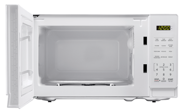 Sharp White Carousel Microwave Smc0710bw Front View With