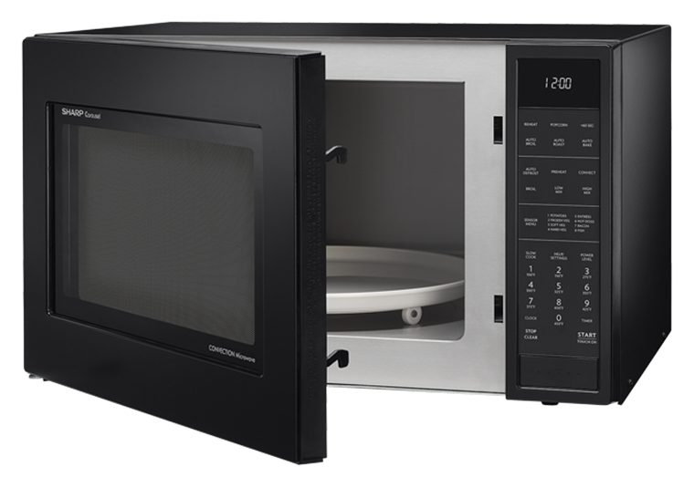 Black Carousel Convection Microwave Smc1585bb Left Angle View