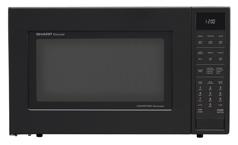 900w Sharp Matte Black Carousel Convection Microwave Oven Smc1585bb
