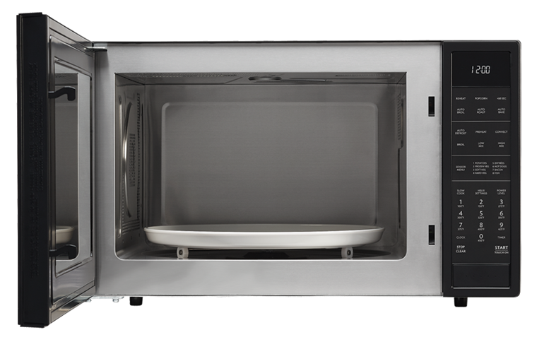 Black Carousel Convection Microwave Smc1585bb Front View With
