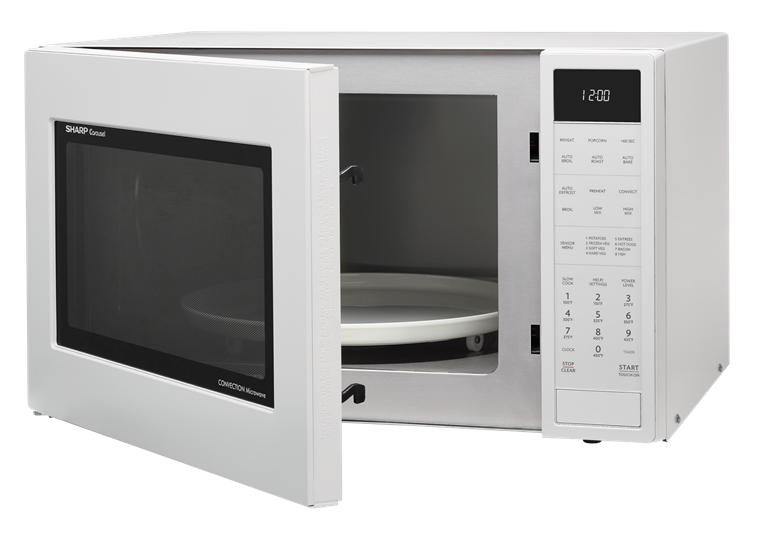 microwave products smc1585bw 15 cu ft white convection microwave sharp