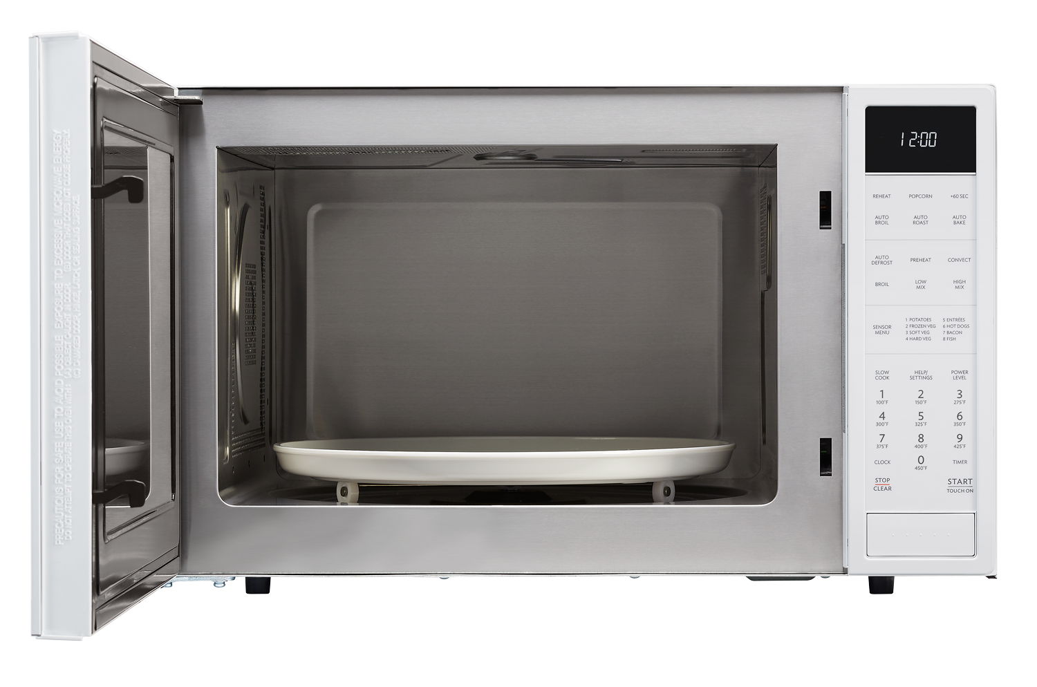 sharp convection microwave. white carousel convection microwave (smc1585bw) \u2013 front view with sharp