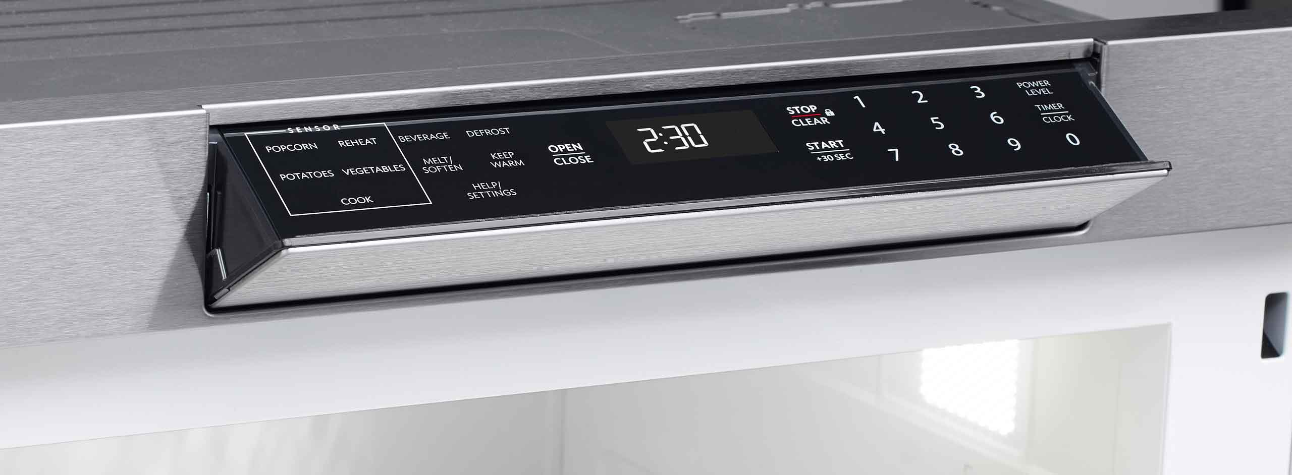 Hidden Control Panel On The Smd3070as 30 Inch Microwave Drawer