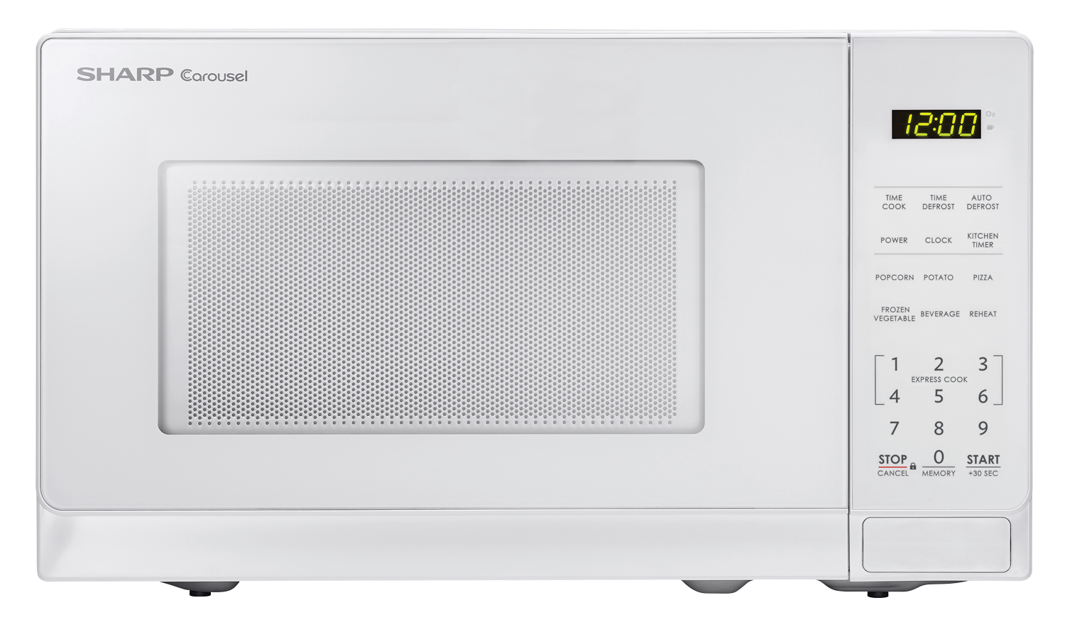 With Innovative Features Like One Touch Controls Auto Defrost And The Carousel Turntable System Sharp Smc0710bw White Microwave Make