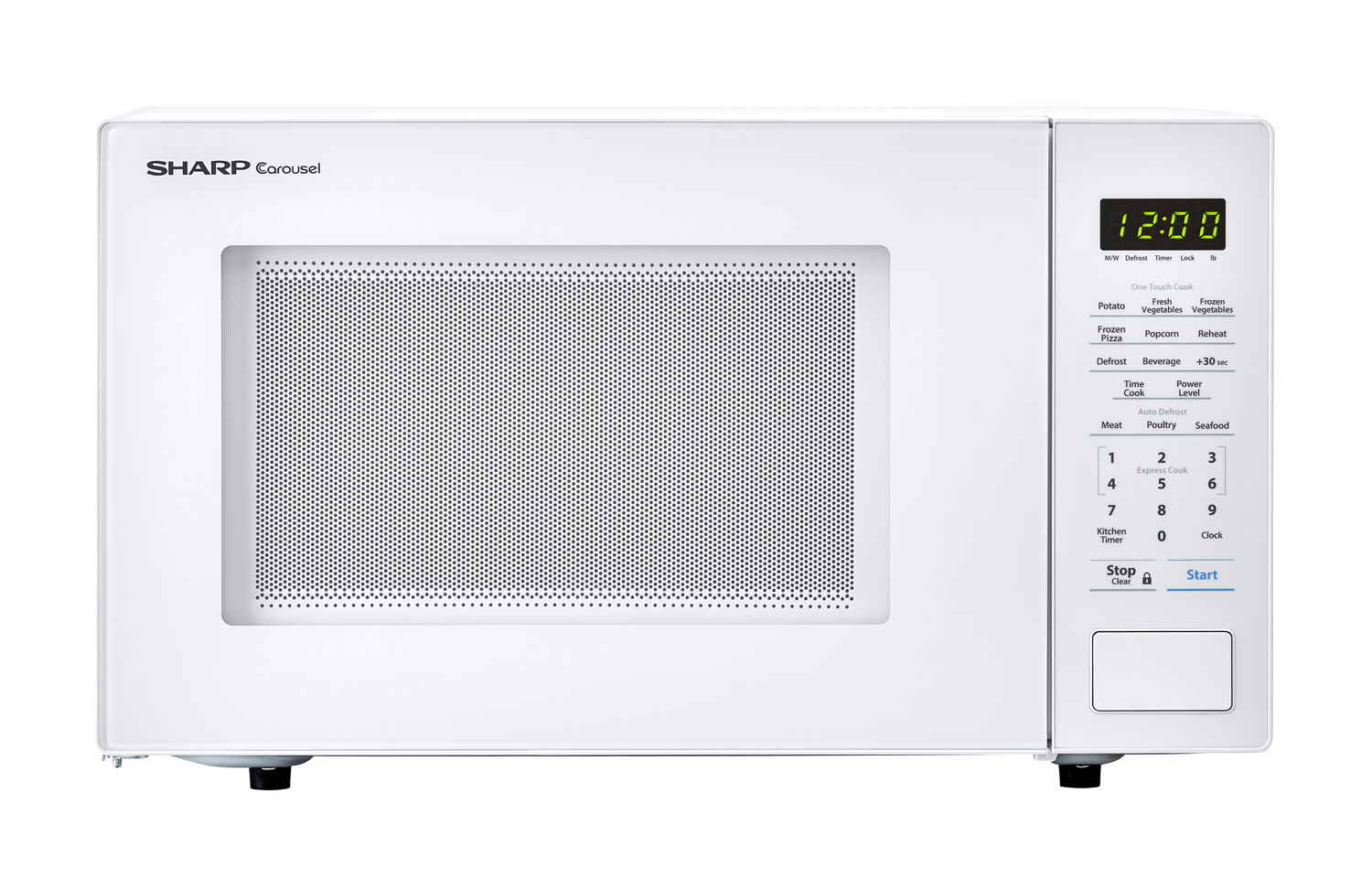 Sharp Smc1131cw 1 Cu Ft White Countertop Microwave