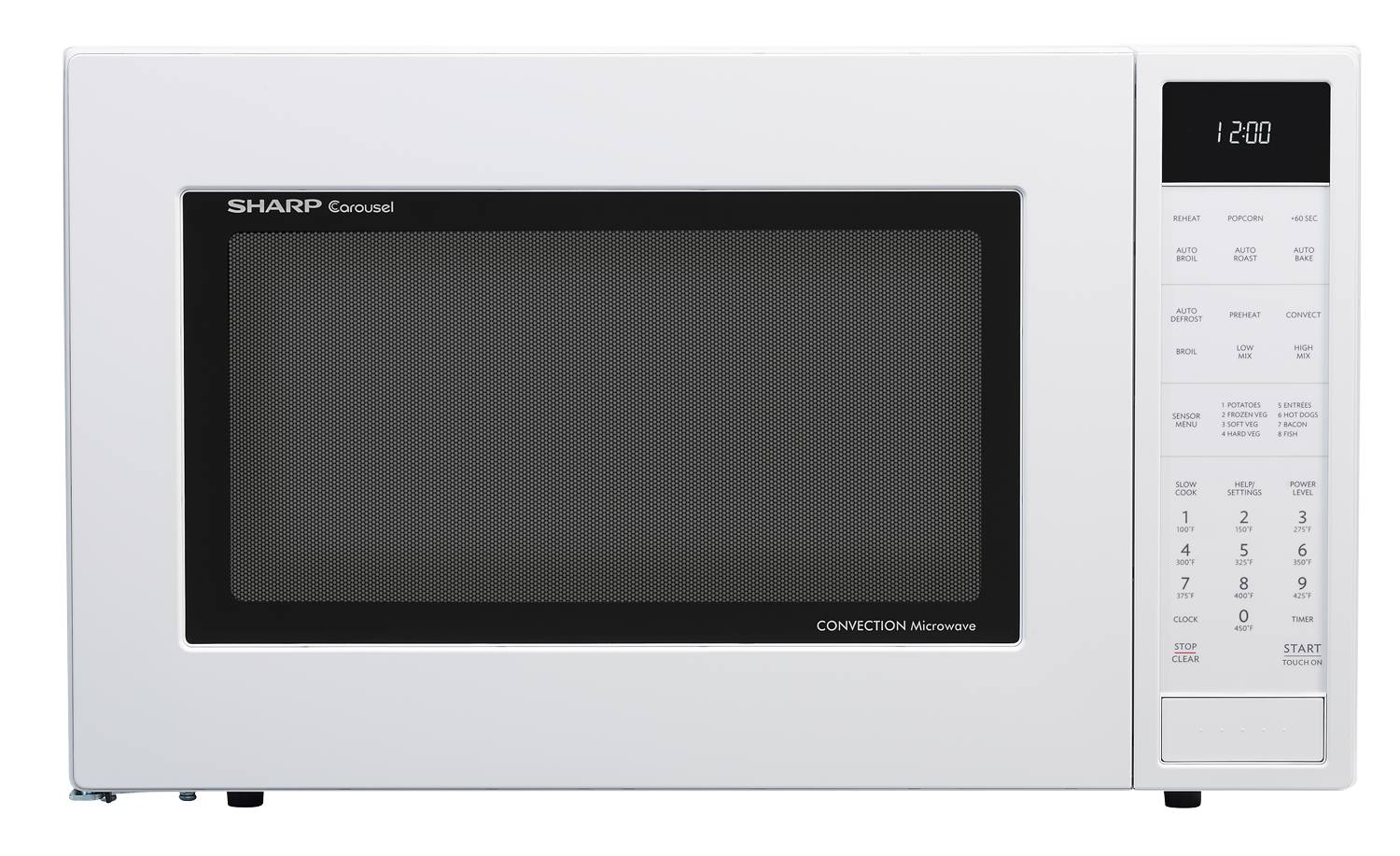 Smc1585bw 1 5 Cu Ft White Convection Microwave Sharp