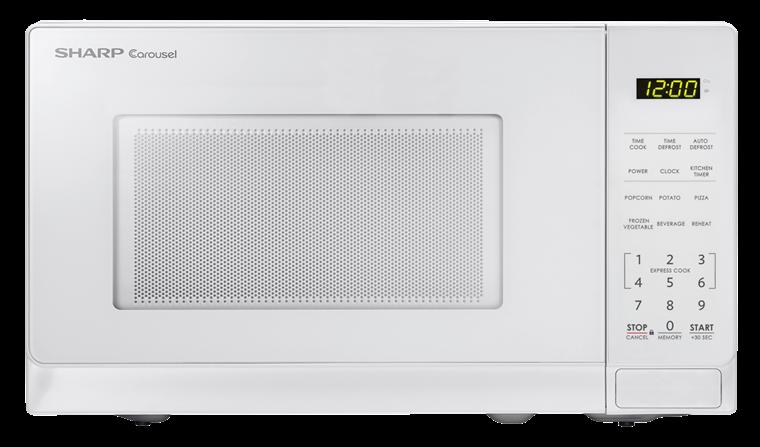 Smc0710bw 0 7 Cu Ft White Carousel Microwave Sharp